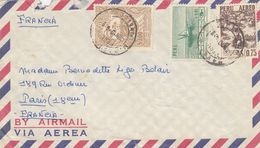 COVER PERU TO FRANCE BY AIRMAIL - Pérou