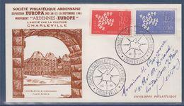 Journées Culturelles Européennes L'amitié Par La Culture Charleville 16.9.61 N°1309 1310 Europa - Europa-CEPT
