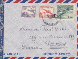 COVER CHILE TO FRANCE BY AIRMAIL - Cile