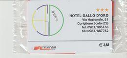 47-Carta Alberghii-Hotel Gallo D' Oro-C Origliano Scalo (CS)-Nuova. In Confezione Originale - Italy
