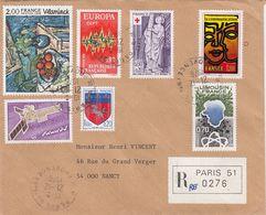 FRANCE. LETTRE 1976 . RECOMMANDÉ PARIS. TABLEAU - Marcofilia (sobres)