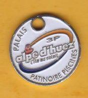 Jeton De Caddie En Métal - Alpe D'Huez 3P - Palais Patinoire Piscine - Sport - Jetons De Caddies