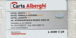 48-Carta Alberghii-Hotel Zenith + Primula Azzurra +Levante Pinerella Di Cervia-Nuova. In Confezione Originale - Italy