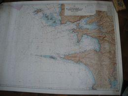 Carte Marine - De L' Ile  D' Ouessant à La Pointe De Penmarc'h -  Abord De Brest -  Edition 4 / 1975 - Cartes Marines