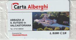 50-Carta Alberghii-Abbazia Di S Eutizio In Valcastoriana-Nuova. In Confezione Originale - Italy