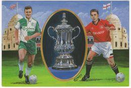 1996 FA Cup Final - Wembley Stadium - MANCHESTER UNITED Vs. LIVERPOOL (Painting, Artwork Stuart J.C. Avery) - Calcio