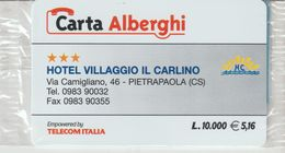 51-Carta Alberghii-Hotel Villaggio Il Carlino-Pietrapaola /CS)-Nuova. In Confezione Originale - Italy
