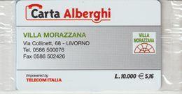 53-Carta Alberghii-Villa Morazzana-Livorno-Nuova. In Confezione Originale-Scritta In Inglese - Italy