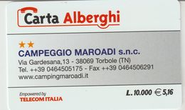 54-Carta Alberghii-Campeggio Maroadi-Torbole (TN)-Nuova - Italy