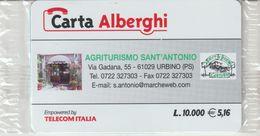 55-Carta Alberghii-Agriturismo Sant' Antonio-Urbino (PS)-Nuova In Confezione Originale - Italy