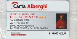56-Carta Alberghii-Hotel Ristorante Del Cardinale-Monsano (AN)-Nuova In Confezione Originale - Italy