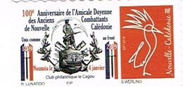 Nouvelle Caledonie Caledonia Timbre Personnalise Timbre A Moi Prive Anciens Combattants Monument Morts Cagou TB - Neukaledonien