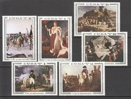 QQ404 ONLY ONE IN STOCK 1981 CUBA NAPOLEON HISTORY WAR ART PAINTINGS 1SET MNH - Napoleon