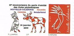 Nouvelle Caledonie Caledonia Timbre Personnalise Timbre A Moi Prive Club Boisbriand Orignal Cagou Canada TB - Neukaledonien