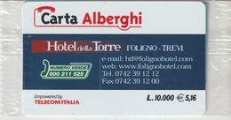 58-Carta Alberghii-Hotel Della Torre-Foligno-Trevi-Nuova In Confezione Originale - Italy