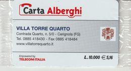59-Carta Alberghii-Villa Torre Quarto-Cerignola (FG)-Nuova In Confezione Originale - Italy