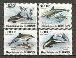Burundi 2011 Mi 2054-2057 MNH DOLPHINS - Whales
