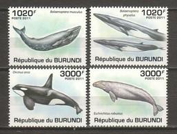 Burundi 2011 Mi 2038-2041 MNH WHALES - Whales