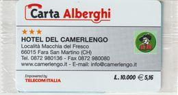 61-Carta Alberghi-Hotel Del Camerlengo-Fara S.Martino (CH)-Nuova In Confezione Originale - Italy