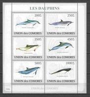 Comores 2009 Kleinbogen Mi 2198-2203 MNH DOLPHINS - Dolphins