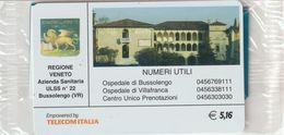 62-Carta Alberghi-Regione Veneto-Bussolengo (VR)-Nuova In Confezione Originale - Italy