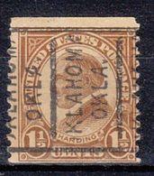 USA Precancel Vorausentwertung Preo, Locals Oklahoma, Oklahoma 598-162 - United States
