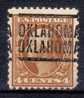USA Precancel Vorausentwertung Preo, Locals Oklahoma, Oklahoma 1917-204 - United States