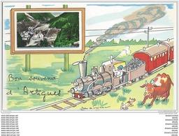 65 ARTIGUES. Carte à Système Avec Véritable Petite Photo Et Dessin D'un Train - Non Classés