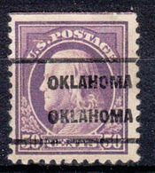 USA Precancel Vorausentwertung Preo, Locals Oklahoma, Oklahoma 1917-209 - United States