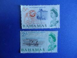BAHAMAS 2 USED STAMPS  2 AND 5 SHI - Bahamas (1973-...)