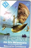 Nouvelle Caledonie New Caledonia Telecarte Pre Payee Prepaid Phonecard IZI Festival Oceanien Kanak Ut Us Courant - Nouvelle-Calédonie