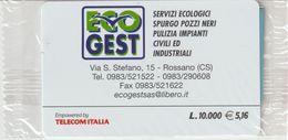 63-Carta Alberghi-Eco Gest-Rossano (CS)-Nuova In Confezione Originale - Italy