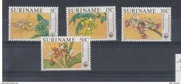 Surinam Michel Cat.No.  Mnh/** 1166/1169 Orchids - Suriname