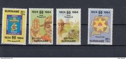 Surinam Michel Cat.No.  Mnh/** 1094/1097 Scouts - Suriname