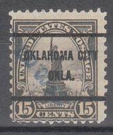 USA Precancel Vorausentwertung Preo, Bureau Oklahoma, Oklahoma City 696-61, Dated - United States