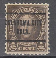 USA Precancel Vorausentwertung Preo, Locals Oklahoma, Oklahoma City 653-257 - United States