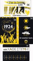 GREECE - AEK FC, Set Of 4 Amimex Prepaid Cards 5 Euro, Tirage 2000, Mint - Greece