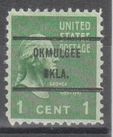 USA Precancel Vorausentwertung Preo, Bureau Oklahoma, Okmulgee 804-71 - United States