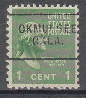 USA Precancel Vorausentwertung Preo, Locals Oklahoma, Okmulgee 703 - United States
