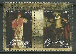 2018 Yt 5262 5263 (o) Acteurs Et Actrices Du XIXe Siècle Sarah Bernhardt Coquelin Aîné - Oblitérés