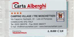 66-Carta Alberghi-Camping Village I Tre Moschettieri-Comacchio (FE)-Nuova In Confezione Originale - Italy