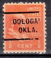 USA Precancel Vorausentwertung Preo, Locals Oklahoma, Oolohah 712 - United States