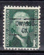 USA Precancel Vorausentwertung Preo, Locals Oklahoma, Owasso 841 - United States