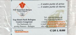 68-Carta Alberghi-Top Hotel Park-Bologna-Nuova In Confezione Originale - Italy