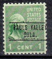 USA Precancel Vorausentwertung Preo, Locals Oklahoma, Pauls Valley 748 - United States