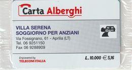 69-Carta Alberghi-Villa Serena-Aprilia (LT)-Nuova In Confezione Originale - Italy