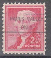 USA Precancel Vorausentwertung Preo, Locals Oklahoma, Pauls Valley 807 - United States
