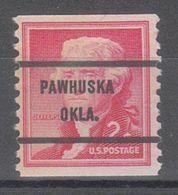 USA Precancel Vorausentwertung Preo, Bureau Oklahoma, Pawhuska 1055-71 - United States