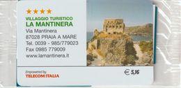 70-Carta Alberghi-Villaggio Turistico La Mantinera-Praia A Mare-Nuova In Confezione Originale - Italy