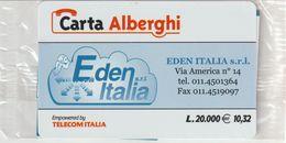 71-Carta Alberghi-Eden Italia E.10,32-Nuova In Confezione Originale - Italy